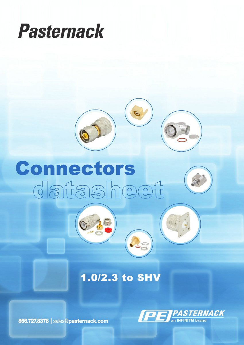 Datasheet Library - 1.0/2.3 to SHV RF Connectors